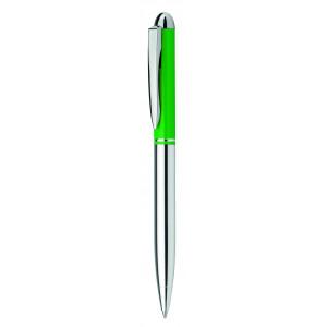 """Reklamní předmět """"Kovové kuličkové pero"""" v barevné variantě tmavě zelená/stříbrná"""