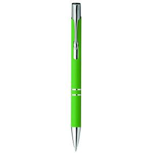 """Reklamní předmět """"Kovové kuličkové pero"""" v barevné variantě zelená"""