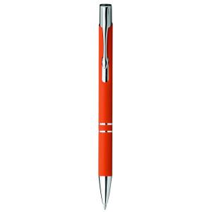 """Reklamní předmět """"Kovové kuličkové pero"""" v barevné variantě žlutooranžová"""