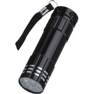 """Reklamní předmět """"Kapesní svítilna LED"""" v barevné variantě černá"""