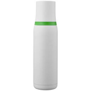 """Reklamní předmět """"Termoska 500 ml"""" v barevné variantě bílá/tmavě zelená"""
