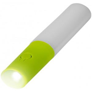 """Reklamní předmět """"Kapesní svítilna"""" v barevné variantě tmavě zelená/bílá"""