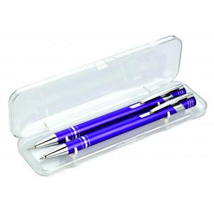 """Reklamní předmět """"Dárková sada mikrotužky a kuličkového pera"""" v barevné variantě modrá"""