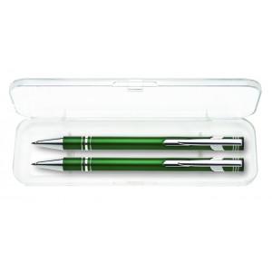 """Reklamní předmět """"Dárková sada mikrotužky a kuličkového pera"""" v barevné variantě tmavě šedá"""