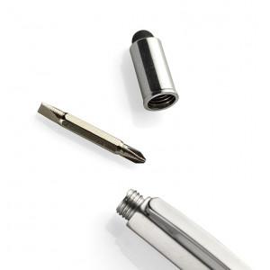 """Fotografie k reklamnímu předmětu """"Kuličkové pero se stylusem, pravítkem a vodováhou"""""""