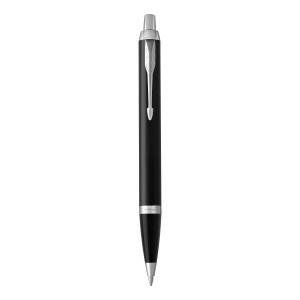 """Reklamní předmět """"Kuličkové pero Paker IM"""" v barevné variantě černá/stříbrná"""