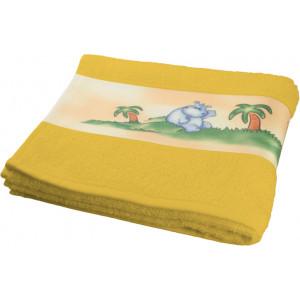 """Reklamní předmět """"Ručník pro plnobarevný potisk do bordury"""" v barevné variantě žlutá"""