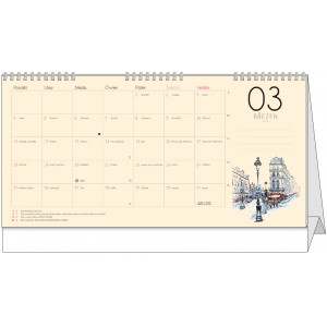 """Fotografie č. 1 k reklamnímu předmětu """"Stolní kalendář Dvouletý kalendář 2019 - 2020"""""""