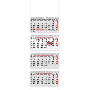 """Náhled reklamního předmětu """"Nástěnný kalendář Čtyřměsíční skládaný 2019"""""""