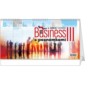 """Náhled reklamního předmětu """"Stolní kalendář Business III. s poznámkami 2019"""""""