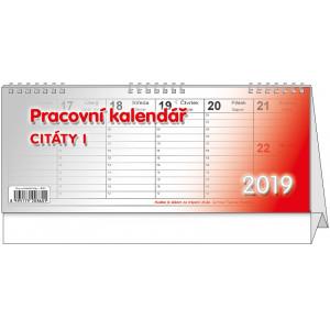 """Náhled reklamního předmětu """"Stolní kalendář Citáty I 2019"""""""