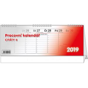 """Náhled reklamního předmětu """"Stolní kalendář Citáty II 2019"""""""