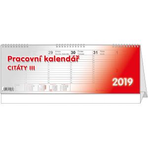 """Náhled reklamního předmětu """"Stolní kalendář Citáty III 2019"""""""