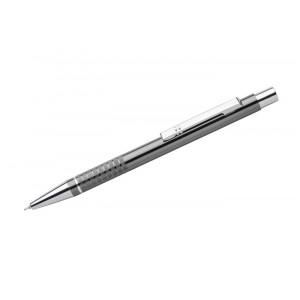 """Reklamní předmět """"Kovové kuličkové pero (propiska) Bona, gelová náplň"""" v barevné variantě tmavě šedá"""