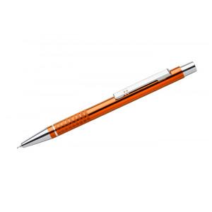"""Reklamní předmět """"Kovové kuličkové pero (propiska) Bona, gelová náplň"""" v barevné variantě žlutooranžová"""