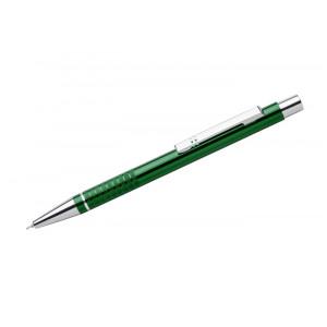 """Reklamní předmět """"Kovové kuličkové pero (propiska) Bona, gelová náplň"""" v barevné variantě tmavě zelená"""