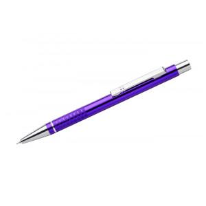 """Reklamní předmět """"Kovové kuličkové pero (propiska) Bona, gelová náplň"""" v barevné variantě fialová"""