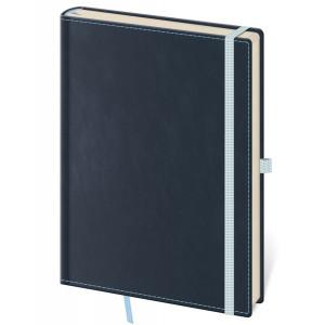 """Náhled reklamního předmětu """"Notes Double Blue M 12x16,5 cm, linkovaný"""""""