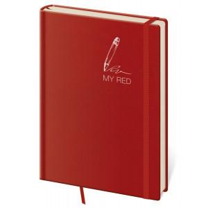 """Náhled reklamního předmětu """"Notes My Red S 9x14, tečkovaný"""""""