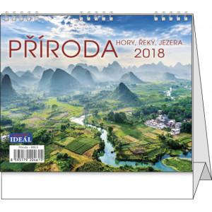 """Náhled reklamního předmětu """"Stolní kalendář Příroda hory, řeky, jezera...."""""""
