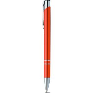 """Reklamní předmět """"Kovové kuličkové pero (propiska) Cosmo"""" v barevné variantě žlutooranžová"""