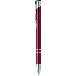 """Reklamní předmět """"Kovové kuličkové pero (propiska) Cosmo"""" v barevné variantě tmavě červená"""