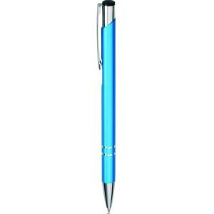 """Reklamní předmět """"Kovové kuličkové pero (propiska) Cosmo"""" v barevné variantě ocelově modrá"""