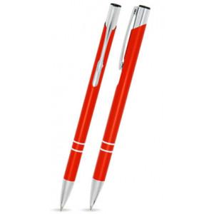"""Reklamní předmět """"Kovové kuličkové pero (propiska) Cosmo Slim"""" v barevné variantě žlutooranžová"""