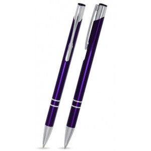 """Reklamní předmět """"Kovové kuličkové pero (propiska) Cosmo Slim"""" v barevné variantě fialová"""