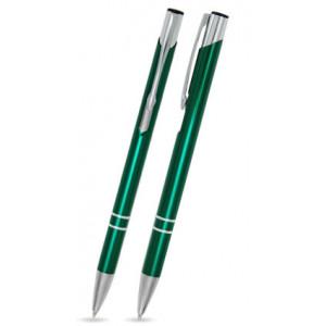 """Reklamní předmět """"Kovové kuličkové pero (propiska) Cosmo Slim"""" v barevné variantě ocelově modrá"""
