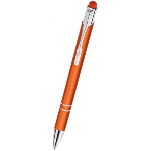 """Reklamní předmět """"Kovové kuličkové pero (propiska) Cosmo touch pen"""" v barevné variantě žlutooranžová"""
