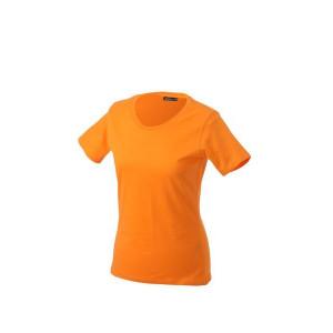 """Reklamní předmět """"Dámské tričko James & Nicholson"""" v barevné variantě žlutooranžová"""