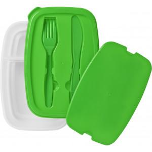 """Reklamní předmět """"Box na oběd"""" v barevné variantě tmavě zelená/bílá"""