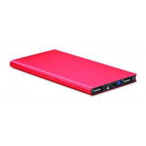 """Reklamní předmět """"Powerbank 8000 mAh"""" v barevné variantě červená"""