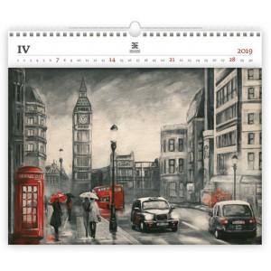 """Náhled reklamního předmětu """"Nástěnný kalendář London Exclusive edition 2019"""""""