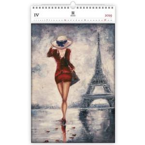"""Náhled reklamního předmětu """"Nástěnný kalendář Paris Exclusive edition 2019"""""""
