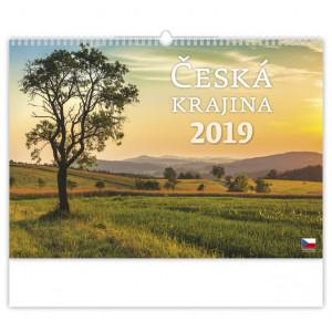 """Náhled reklamního předmětu """"Nástěnný kalendář Česká krajina 2019"""""""