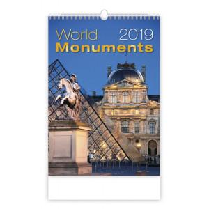 """Náhled reklamního předmětu """"Nástěnný kalendář World monuments / Světové monumenty 2019"""""""