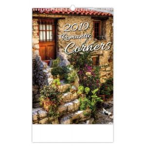 """Náhled reklamního předmětu """"Nástěnný kalendář Romantic corners / Romantická zákoutí 2019"""""""