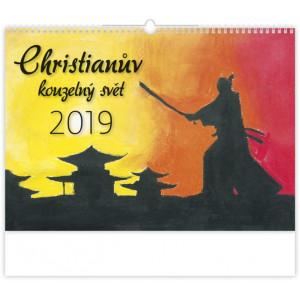 """Náhled reklamního předmětu """"Nástěnný kalendář Christianův kouzelný svět 2019"""""""