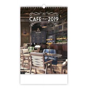 """Náhled reklamního předmětu """"Nástěnný kalendář Cafe 2019"""""""