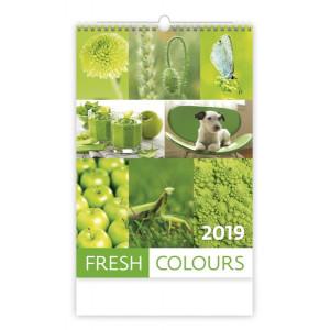 """Náhled reklamního předmětu """"Nástěnný kalendář Fresh Colours 2019"""""""