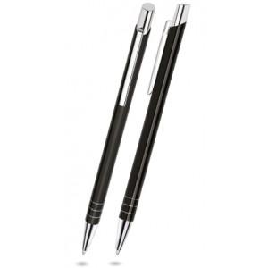 """Reklamní předmět """"Kovové kuličkové pero (propiska) Nicol Slim"""" v barevné variantě černá"""