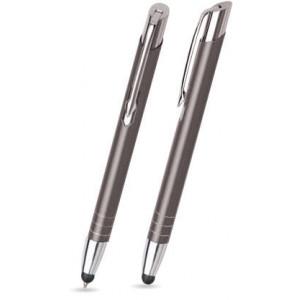 """Reklamní předmět """"Kovové kuličkové pero (propiska) Nicol Touch Pen"""" v barevné variantě tmavě šedá"""