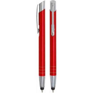 """Reklamní předmět """"Kovové kuličkové pero (propiska) Nicol Touch Pen"""" v barevné variantě oranžová"""