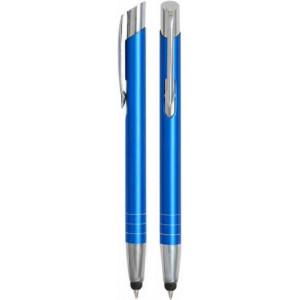 """Reklamní předmět """"Kovové kuličkové pero (propiska) Nicol Touch Pen"""" v barevné variantě námořnická modř"""