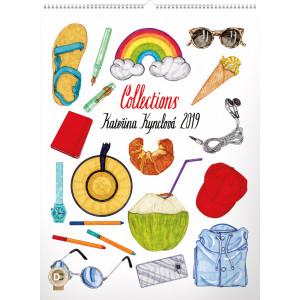 """Náhled reklamního předmětu """"Nástěnný kalendář Collections Kateřina Kynclová 2019"""""""