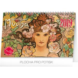 """Náhled reklamního předmětu """"Stolní kalendář Alfons Mucha 2019"""""""