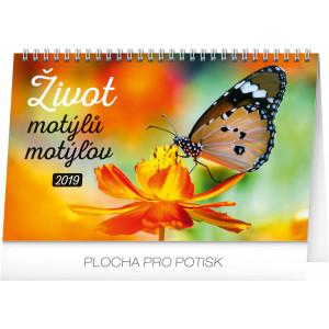"""Náhled reklamního předmětu """"Stolní kalendář Život motýlů - motýĺov 2019"""""""