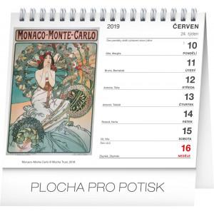 """Fotografie k reklamnímu předmětu """"Stolní kalendář Alfons Mucha 2019"""""""